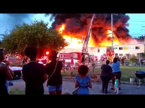 Milltech Fire in Woodland Park