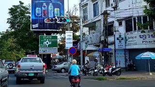 Travelling and touring along the streets in Phnom Penh City, Cambodia