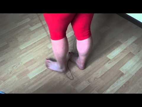 Barefoot TABATA jump rope workout!