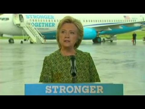 Trump accuses Clinton of copying his 'airplane rallies'