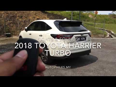 Car ASMR | 2018 Toyota Harrier Turbo | Sights & Sounds