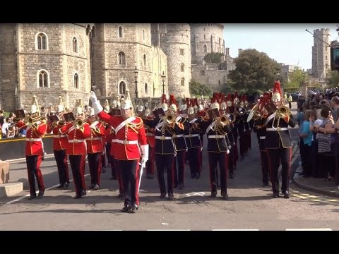 Changing the Guard at Windsor Castle - Saturday the 21st of April 2018