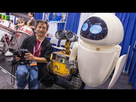 Real Life-Size EVE Robot (from Wall-E!) - YouTube