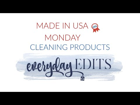 5 FAVORITE  MADE IN USA CLEANING PRODUCTS
