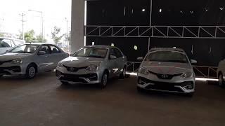 This Outdoor Toyota Showroom is Massive|Etios,Innova,Yaris,Liva|Colors|Walkaround