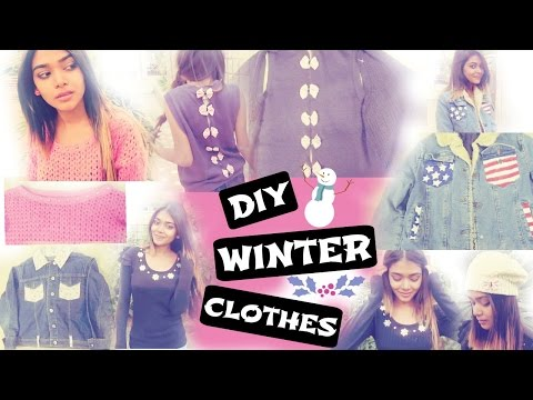DIY Winter clothes + beanie | tumblr inspired | in india.