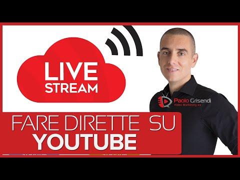 Come fare una live su Youtube - Tutorial dirette live streaming Youtube