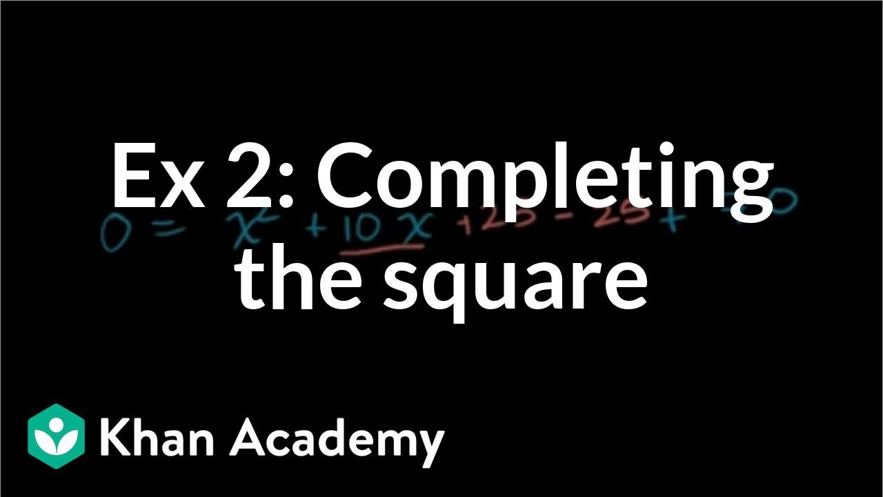 Solving Quadratics Bypleting The Square: No Solution (video)  Khan  Academy