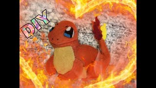 Мастер класс брелок из фетра ( Pokemon Charmander)