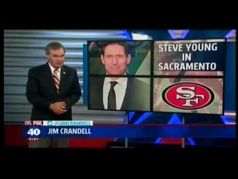 Steve Young Donation  KTXL FOX40  530pm  Sac, CA  08 13 2014