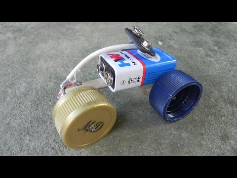 HOW TO MAKE A SIMPLE ELECTRIC CAR USING HOUSEHOLD  ITEMS! DIY HOMEMADE