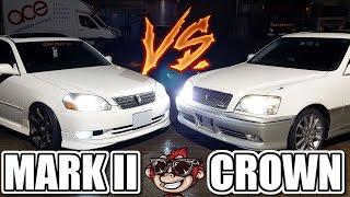 🐒 STREET RACE TOYOTA MARK 2 VS CROWN   BATTLE OF THE 1JZ