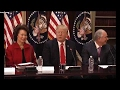 Breaking News , President Donald Trump Leads a Strategic and Policy CEO Discussion[HD]
