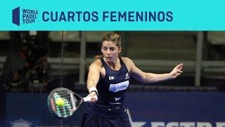 Resumen cuartos femeninos (primer turno) Estrella Damm Alicante Open