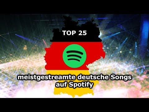 TOP 25 meistgestreamte DEUTSCHE Songs auf Spotify