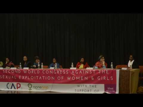 Rama Reddy at World Congress Against Sexual Exploitation of Women & Girls