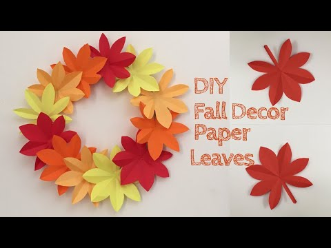 Paper Leaves Wall Hanging / Wall Decoration Ideas With Paper Leaves / Paper Craft / Paper Fall Decor