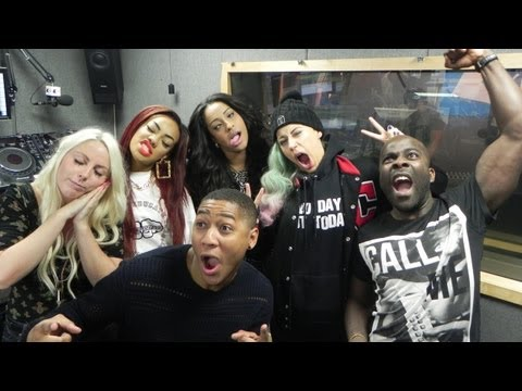 Stooshe Chat To Rickie, Melvin And Charlie At Kiss FM (UK)
