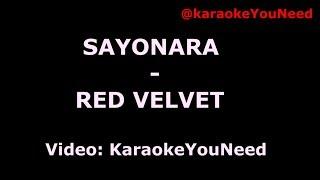 [Karaoke] Sayonara - #RedVelvet