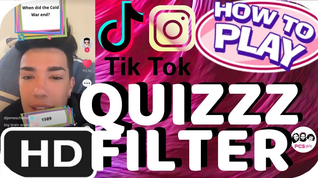 How To Find The Instagram Tiktok Quiz Quizzz Trivia Filter Pcs Girls Youtube
