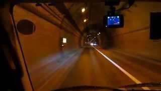北海道国道231号雄冬~浜益まで工事トンネルを抜け走る 1