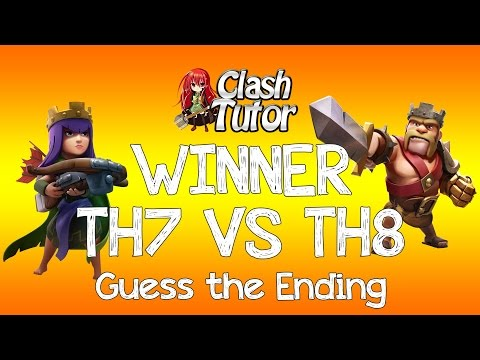 Clash of Clans TH7 VS TH8 Dragon Attack - Winner