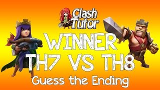 Clash of Clans TH7 VS TH8 Dragon Attack - Winner
