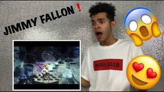 Ariana Grande- No Tears Left To Cry (Live On Jimmy Fallon 2018) REACTION!!!