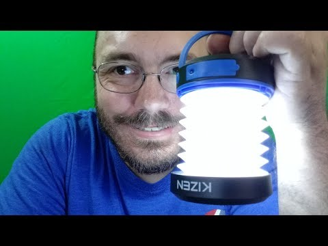 Kizen Solar Powered LED Camping Lantern Solar or USB Chargeable Collapsible Space Saving Design Emer