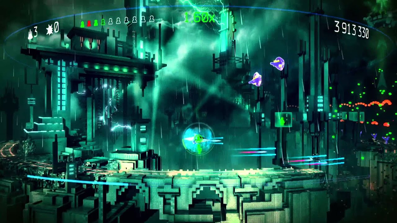 Classic Game Room Resogun Review For Playstation 4 Youtube