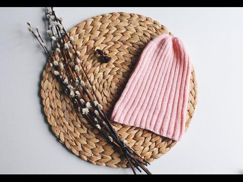 Простая детская шапочка спицами