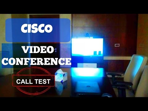 Cisco Video Conference Test Call - Remote Call Test