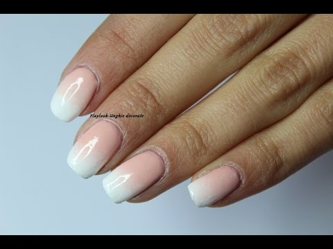 Video tutorial 140 Nail art unghie french bianca sfumata, By Flaylook