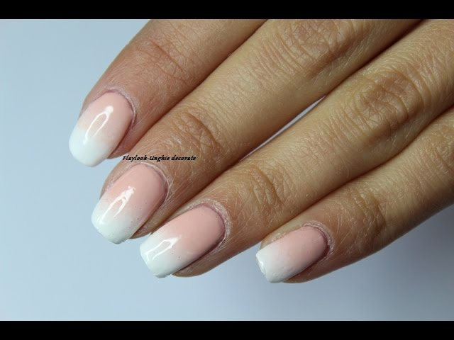 Video Tutorial 140 Nail Art Unghie French Bianca Sfumata By