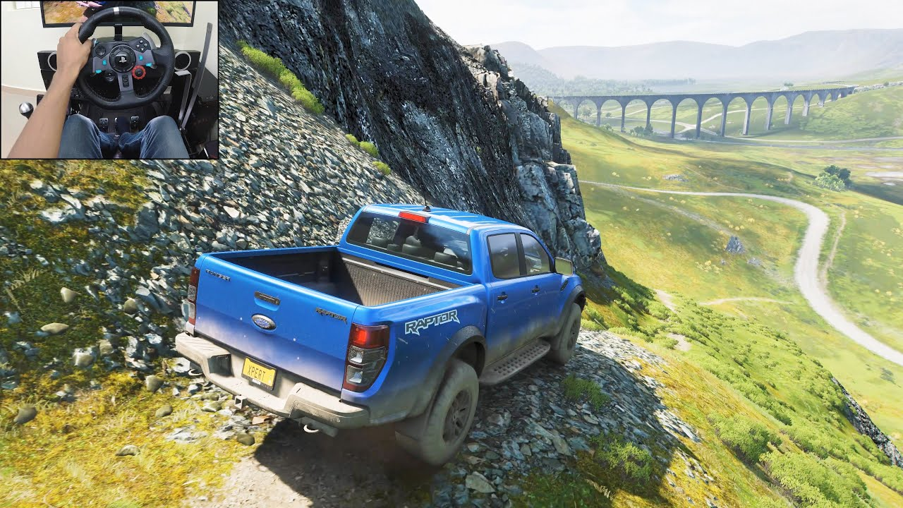 Ford Ranger Raptor | Realistic offroading - Forza Horizon 4 | Logitech g29 gameplay thumbnail