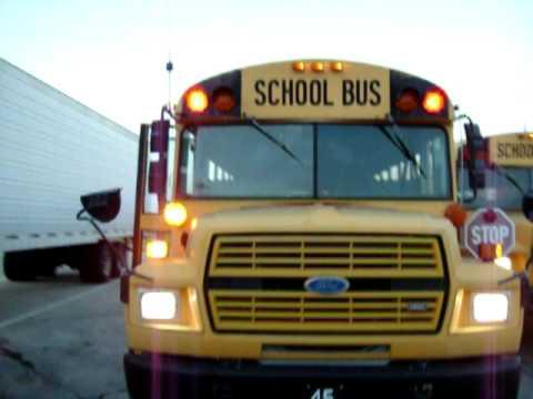 Emergency Crossing Lights On A Thomas School Bus Youtube