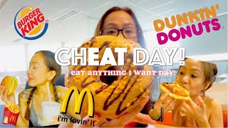 FAST FOOD CHEAT DAY | 5,000 CALORIE CHALLENGE| Donuts, Burger, Fries, Pizza