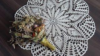 Вязание ажурной салфетки крючком Часть 1