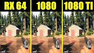 Far Cry 5 GTX 1080 TI Vs GTX 1080 Vs AMD RX Vega 64 8700K Frame Rate Comparison