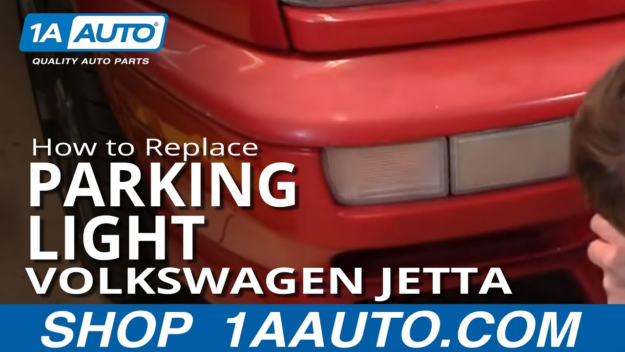 how to install replace front signal light volkswagen vw jetta 93 98 1aauto com [ 1280 x 720 Pixel ]