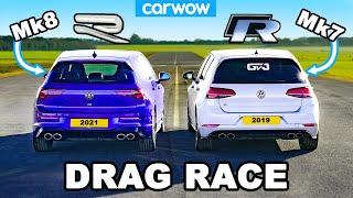 VW Golf R Mk8 v Mk7.5: DRAG RACE