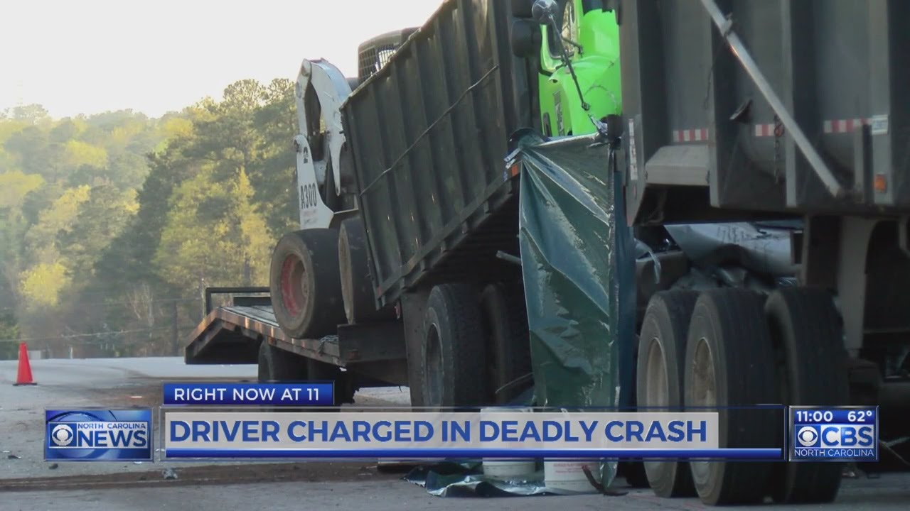 NC dump truck driver charged in crash that killed Wake Forest teacher