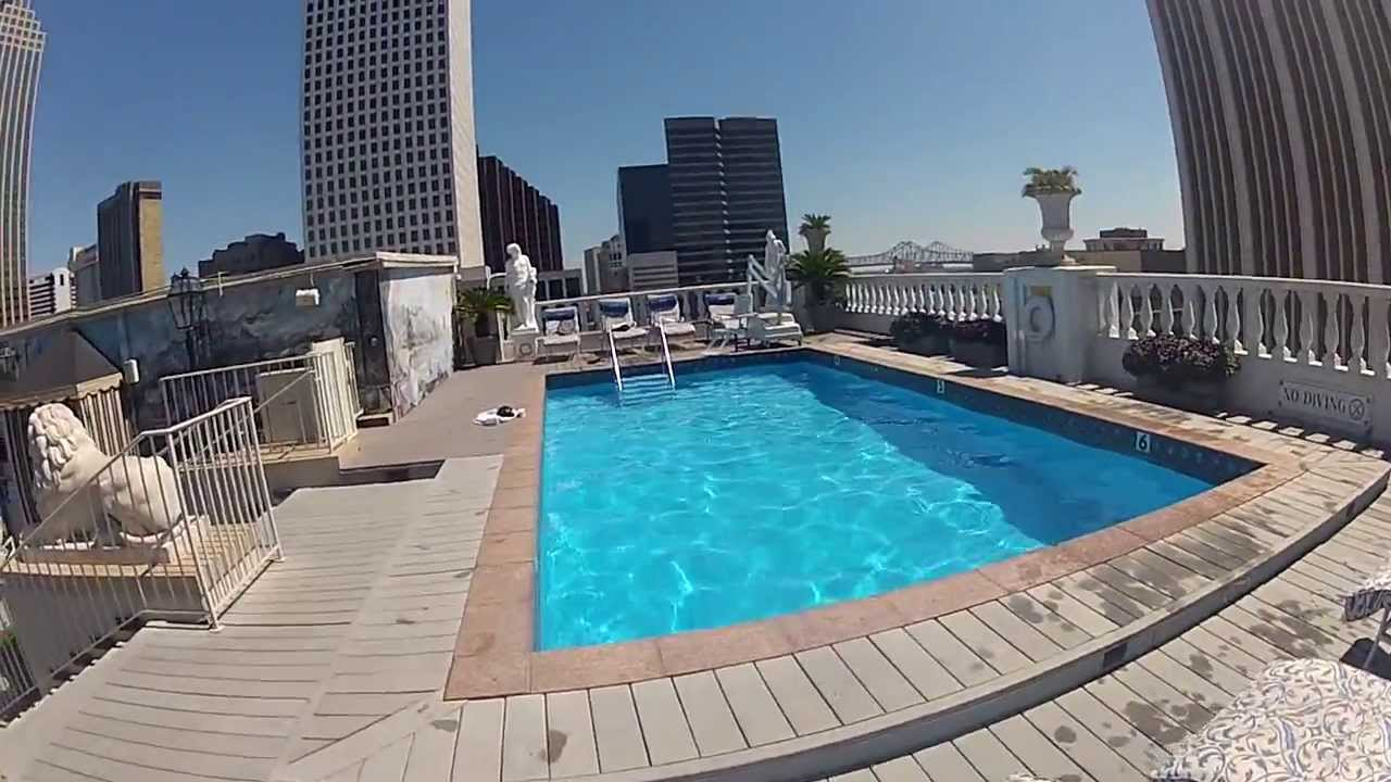 cannonball in new orleans le pavillon hotel pool louisiana youtube. Black Bedroom Furniture Sets. Home Design Ideas