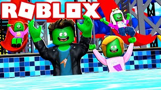 Zombie Roblox Family | Pool Party In Bloxburg!