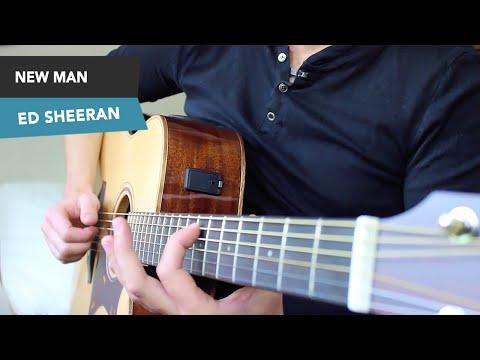Ed Sheeran - NEW MAN Guitar lesson tutorial - EASY Fingerstyle - chords ÷