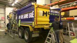 mcgee cycle awareness tipper truck