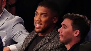 ANTHONY JOSHUA EXCITED TO ATTEND WHYTE-CHISORA REMATCH