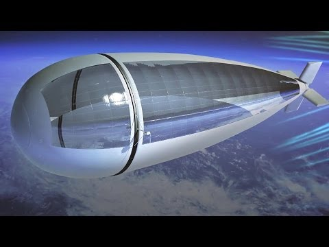 Thales Alenia Space - StratoBus Long Endurance Stratospheric Vehicle Simulation [1080p]
