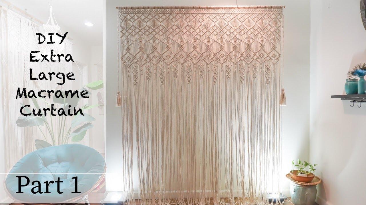 macrame curtain 3 how to make a