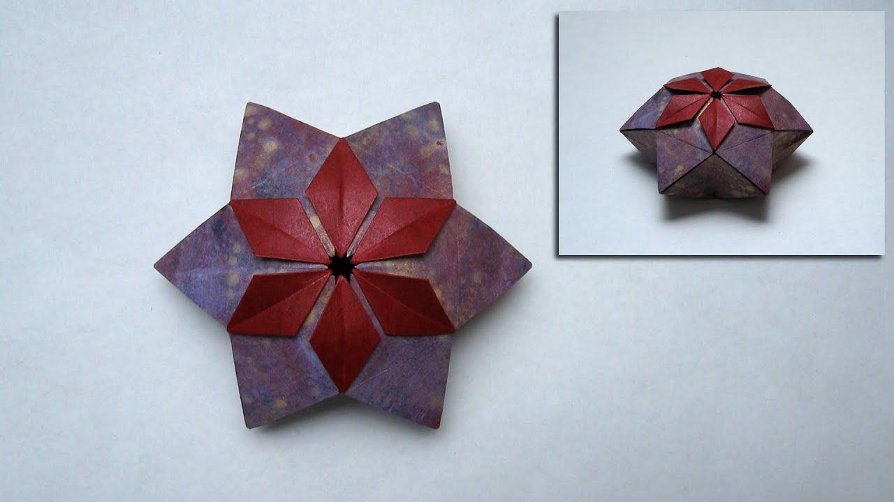 Christmas Origami Instructions Pelleas Box Peter Keller